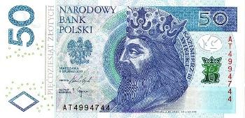Польські купюри 2 рубля пушкин